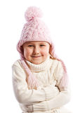Little girl in warm clothes. Royalty Free Stock Photo