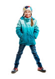 Little girl in warm clothes Royalty Free Stock Photography