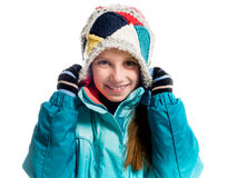Little girl in warm clothes Royalty Free Stock Image