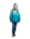 Little girl in warm clothes Royalty Free Stock Photos
