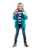 Little girl in warm clothes Stock Photos