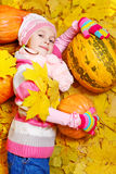 Little girl in warm hat Stock Photo