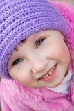 Little girl in warm hat Royalty Free Stock Photography