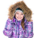 Little girl in warm jacket Stock Photography