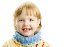 Little girl in warm sweater Stock Photography