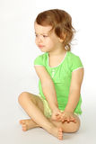 A little girl was disordered. Stock Photo