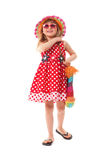 Little girl was dressed for summer walk Royalty Free Stock Image