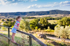 Free Little Girl Watching Landscape In Italy Royalty Free Stock Images - 76256679