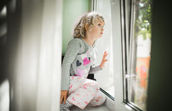 Little girl watching Royalty Free Stock Photo