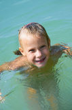 Little girl in water Royalty Free Stock Photo