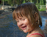 Little girl with water drops Royalty Free Stock Photography