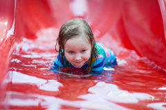 Little girl at water park Stock Image