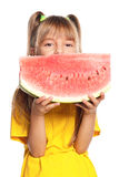Little girl with watermelon Royalty Free Stock Image