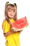 Little girl with watermelon Stock Image