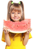 Little girl with watermelon Royalty Free Stock Photo