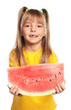 Little girl with watermelon Royalty Free Stock Images