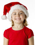 Little girl wear a santa hat Stock Photo