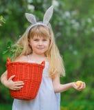 Little girl wearing bunny ears Stock Image