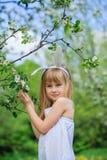 Little girl wearing bunny ears Royalty Free Stock Image