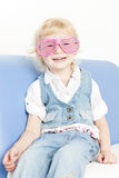 Little girl wearing glasses Stock Photography