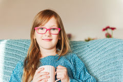 Little girl wearing glasses Royalty Free Stock Photo