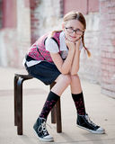 Little Girl wearing Glasses Royalty Free Stock Photo