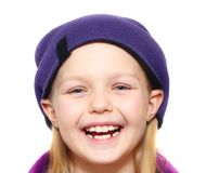 Little girl wearing hat Royalty Free Stock Photography
