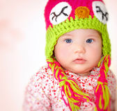 Little girl wearing hat Royalty Free Stock Image