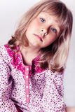 Little girl wearing a nightgown Royalty Free Stock Photography
