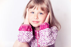 Little girl wearing a nightgown Royalty Free Stock Image
