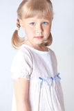 Little girl wearing a nightgown Stock Photography