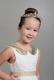 Little girl wearing princess crown Stock Photos