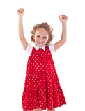 Little girl wearing a red dress Royalty Free Stock Photos