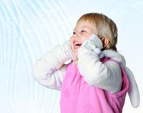 Little girl wearing a scarf, christmas, winter, frost Royalty Free Stock Photos