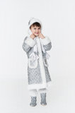 Little girl wearing snow-maiden costume Stock Images