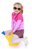 Little girl wearing sunglasses Royalty Free Stock Photos
