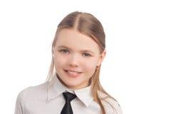 Little girl wearing teeth braces Stock Images