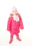 Little girl wearing winter coat Stock Photo