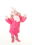 Little girl wearing winter coat Royalty Free Stock Photography