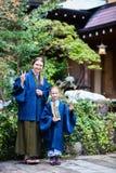 Little girl wearing yukata Royalty Free Stock Image