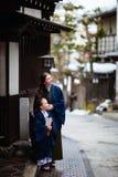 Little girl wearing yukata Royalty Free Stock Photo