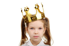 A little girl wears a crown Royalty Free Stock Photography