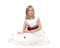 Little girl in wedding dress Royalty Free Stock Images