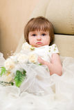 Little girl in wedding dress Stock Photos