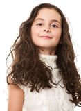 Little girl on white Royalty Free Stock Photography