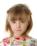 Little girl on white Royalty Free Stock Image