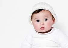 Little girl a on white background. Stock Photography