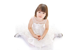 Little girl on white background Stock Images