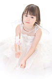 Little girl on white background Stock Photography