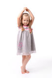 Little girl on a white background Royalty Free Stock Photo